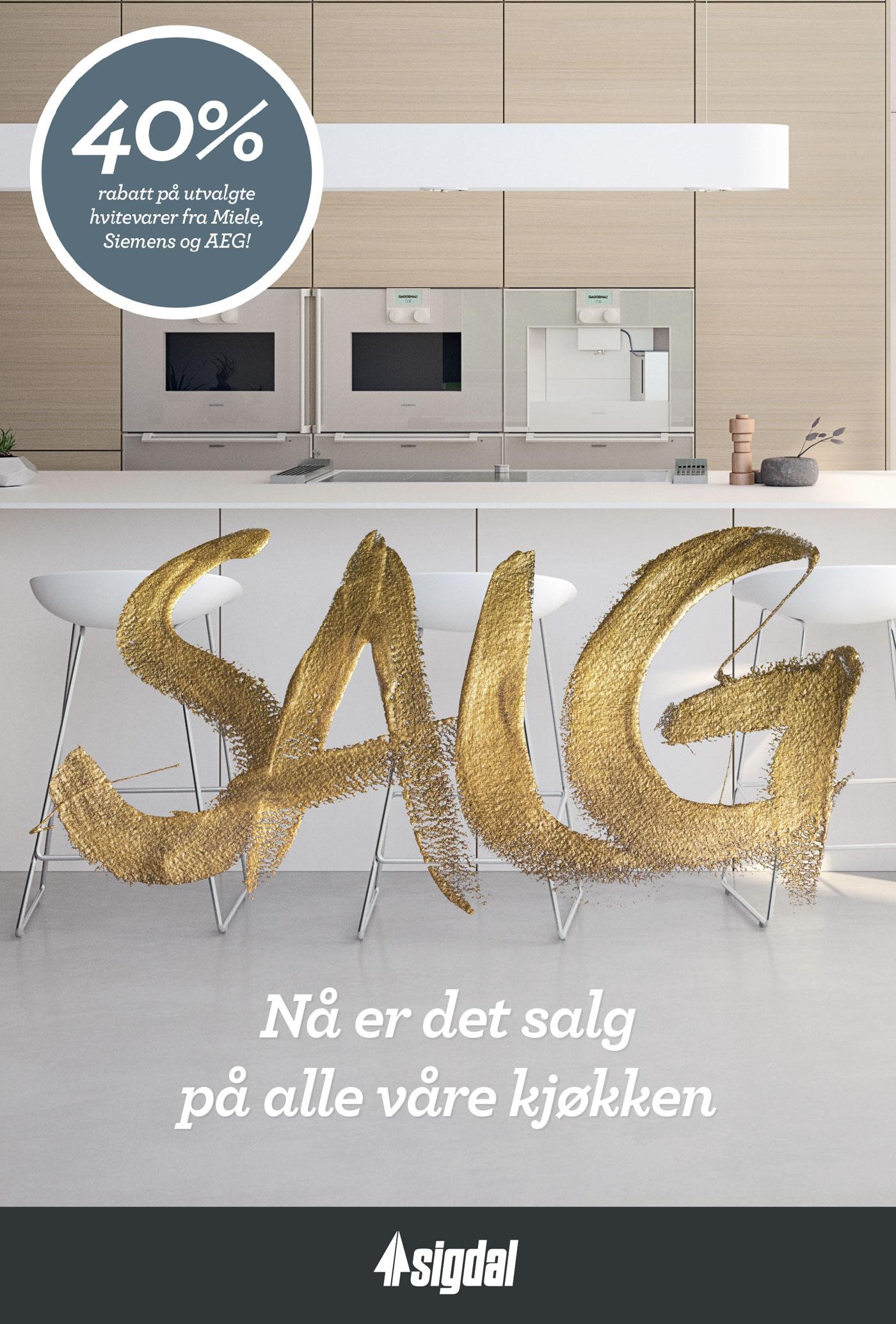 Unike Nå er det salg på alle Sigdal kjøkken - Gulli Trevarefabrikk AS NU-39