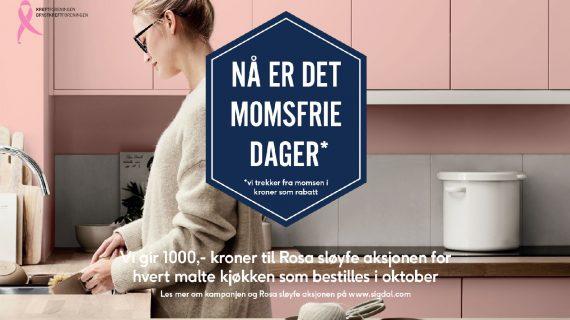 Sigdal Rosa sløyfe kampanje banner